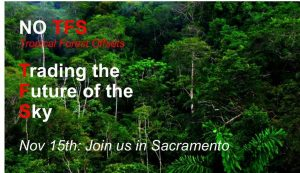 Join us Nov 16 in Sacramento: Forest Offsets / Carbon Trading = Climate Disruption